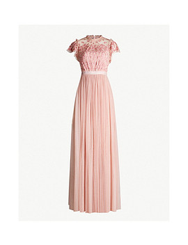 Darcy Embroidered Woven Gown by Needle And Thread