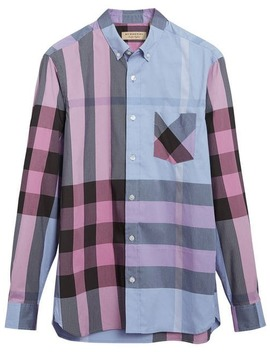 Check Stretch Shirt by Burberry