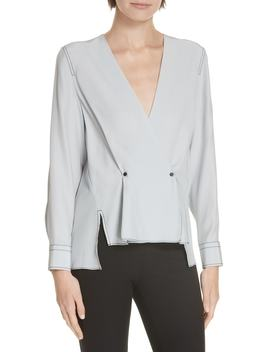 Debbie Silk Surplice Top by Rag & Bone