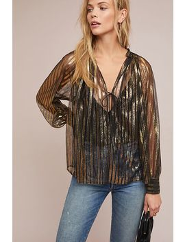 Antik Batik Metallic Striped Blouse by Antik Batik