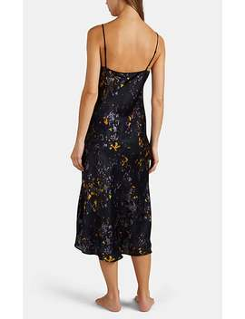 Maggie Floral Silk Slip by Raven & Sparrow By Stephanie Seymour