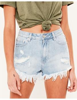 Ripped Denim Shorts by Glassons