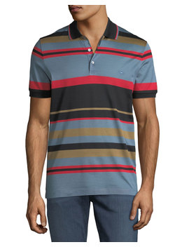 Men's Cotton Striped Polo Shirt by Salvatore Ferragamo