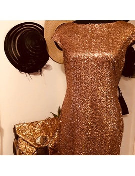 Ralph Lauren Bronze Sequined Cocktail Dress   Nwt by Ralph Lauren
