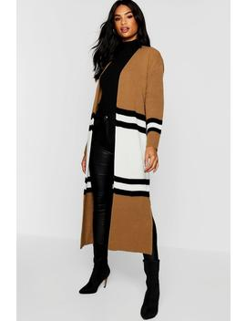 Tall Colour Block Cardigan by Boohoo