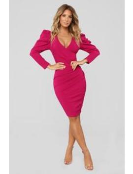 Show Me How To Love Dress   Magenta by Fashion Nova