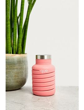 Que Pink Collapsible Water Bottle by Que