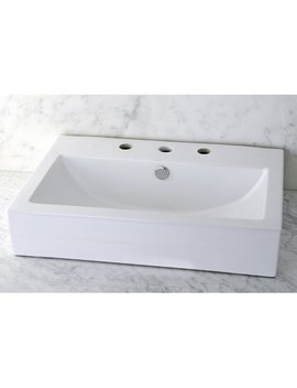 Kingston Brass Century Ceramic Rectangular Vessel Bathroom Sink & Reviews by Kingston Brass
