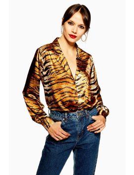 Tiger Print Shirt by Topshop