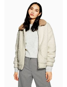 **Two Tone Teddy Coat By Native Youth by Topshop
