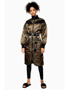 Quilted Bardot Coat By Ivy Park by Topshop
