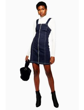 Denim Stretch Pinafore Dress by Topshop