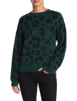 Animal Print Jacquard Sweater by Abound