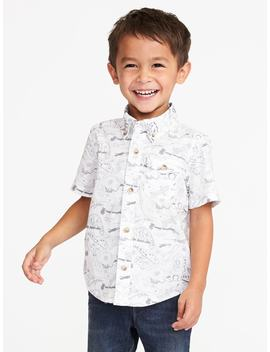 Built In Flex Reptile Print Shirt For Toddler Boys by Old Navy