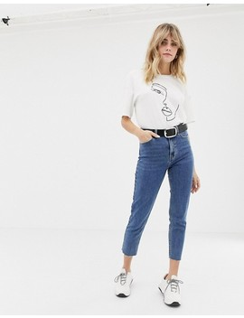 Only High Waist Straight Leg Jean by Only