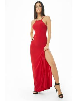 High Neck Bodycon Maxi Dress by Forever 21