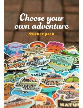 Adventure Sticker Pack Mix And Match Vinyl Stickers Adventurer Gift Sticker Lover Water Bottle Sticker Wilderness Stickers Wander Stickers by Etsy