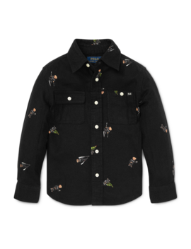Polo Bear Cotton Flannel Shirt by Ralph Lauren