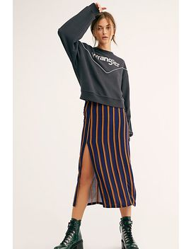 Sydney Printed Slit Midi Skirt by Free People