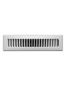 Accord Apfrwhl212 Plastic Floor Register With Louvered Design, 2 Inch X 12 Inch(Duct Opening Measurements), White Finish by Accord Ventilation