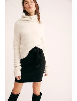 Gigi Ribbed Mini Skirt by Free People