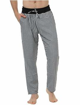 Hawiton Men's Pajama Pants Cotton Sleep Lounge Sleepwear Plaid Bottoms by Hawiton