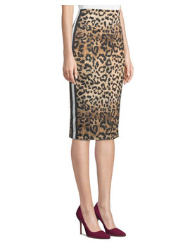 Leopard Print Ponte Pencil Skirt by Nicole Miller New York