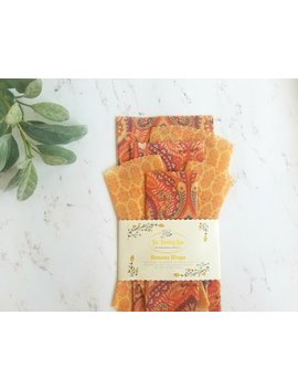 Beeswax Wraps Set Eco Friendly Gifts Zero Waste Kit Eco Food Storage Wax Food Wraps Waste Free Products Sandwich Wrap Sustainable Container by Etsy