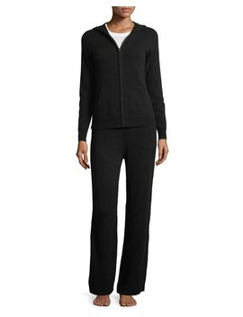 Cashmere Hoodie & Pant Lounge Set by Neiman Marcus Cashmere Collection