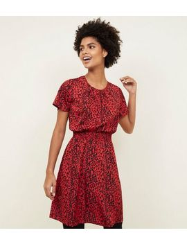 Tall Red Leopard Print Dress by New Look