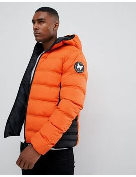 Good For Nothing Hooded Puffer Jacket In Orange by Good For Nothing