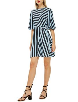 Diagonal Stripe Minidress by Topshop