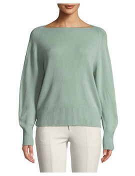 Wool Cashmere Boat Neck Sweater by Vince