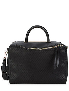 Vince Camuto Textured Leather Satchel by Vince Camuto