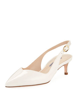 Edith Patent Slingback Pumps by Stuart Weitzman