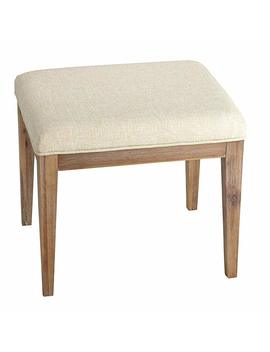 "Cortesi Home Ch Ot905462 Onel Neutral Linen Fabric Vanity Bench Ottoman, 20"", Beige by Cortesi Home"