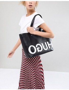 Hugo Tote Bag With Textured Logo by Boss Orange By Hugo Boss