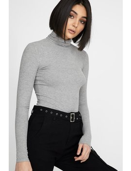 Ribbed Fitted Turtleneck Long Sleeve by Urban Planet