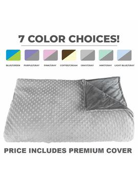 """Premium Weighted Blanket, Perfect Size 60"""" X 80"""" And Weight (15lb) For Adults And Children. Deluxe Calmforter(Tm) Blanket Relieves Anxiety, Stress, Agitation, Insomnia. Price Includes Cover! by Platinum Health"""