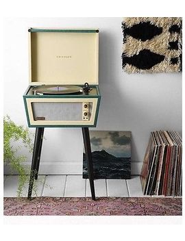 Crosley Cr6231 A Gr1 Dansette Sterling Turntable Green  Player With Legs Record by Ebay Seller