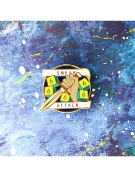 Sneak Attack Dungeons And Dragons Pin   Rogue D&D Enamel Pin by Etsy