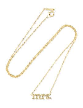 Mrs 18 Karat Gold Diamond Necklace by Jennifer Meyer