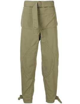 Men's Khaki Fold Front Utility Trousers by Jw Anderson