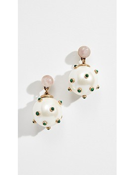 Studded Stone Imitation Pearl Drop Earrings by Tory Burch