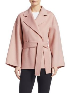 Wool & Cashmere Belted Robe Jacket by Theory