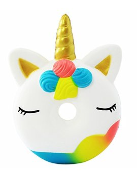 Aolige Squishies Slow Rising Jumbo Kawaii Cute Colorful Unicorn Donut Creamy Scent For Kids Party Toys Stress Reliever Toy by Aolige