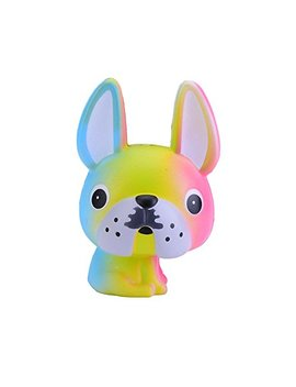"""Sinofun 4.7"""" Big Eyes Dog Squishy Toys Slow Rising Scented For Stress Relief Decoration And Kids Gift (Rainbow) by Sinofun"""
