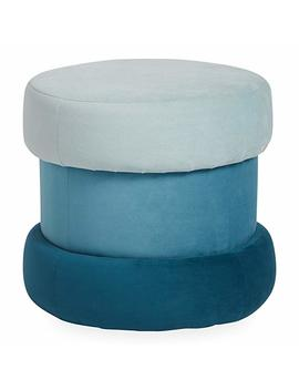 Now House By Jonathan Adler Chroma Upholstered Ottoman With Storage, Teal by Now House By Jonathan Adler