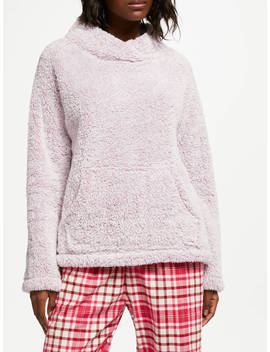 John Lewis & Partners Hi Pile Fleece Snuggle Top, Pink by John Lewis & Partners