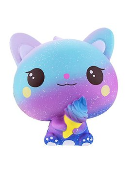 Squishies Jumbo Ice Cream Cat, Vlampo Slow Rising Stress Relief Squishy Toys Super Soft Kawaii Scented Decoration Toys Squishy Fun Collection For Kids & Adults (Galaxy Purple) by Rosybeat
